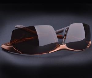 Image 3 - Sıcak Alüminyum magnezyum alaşımlı erkek polarize güneş gözlüğü sürüş ayna gözlük erkek gözlük gözlük moda sürüş güneş gözlüğü