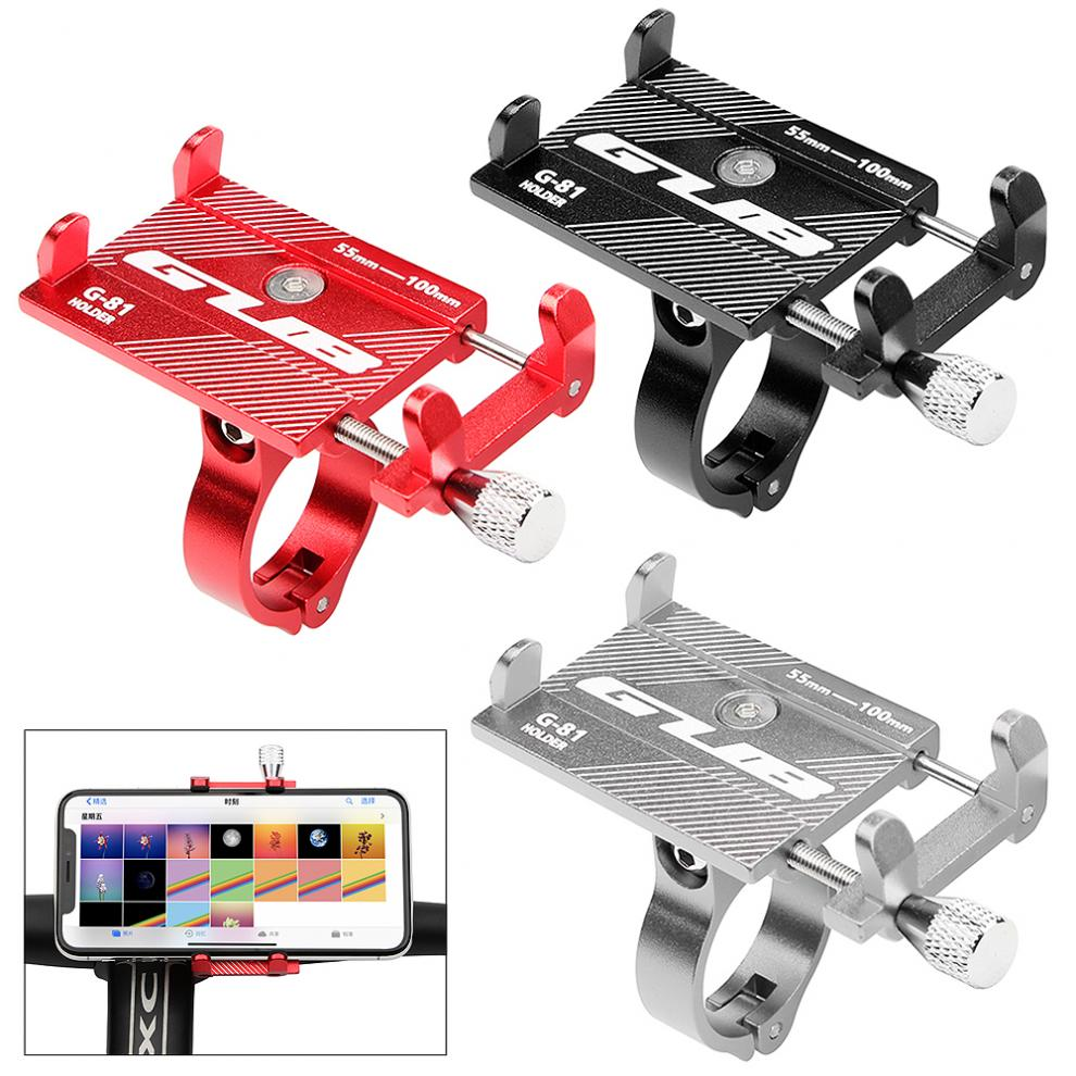 Bicycle Motorcycle Electrombile Phone Holder Mount Bracket Handlebar Anti-Slip Clip Stand Support 3.5-6.2inch Phone цена