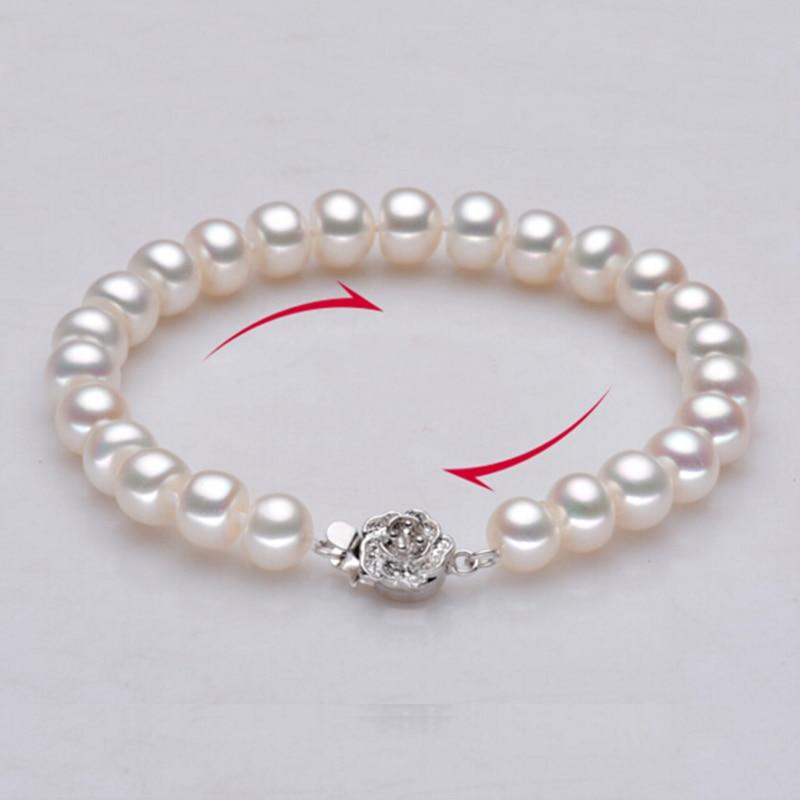 Sinya Perlen Strang Armbänder für Frauen mit Hochglanz natürlichen Süßwasserperlen 9-10mm heißer Verkauf feinen Perlenschmuck