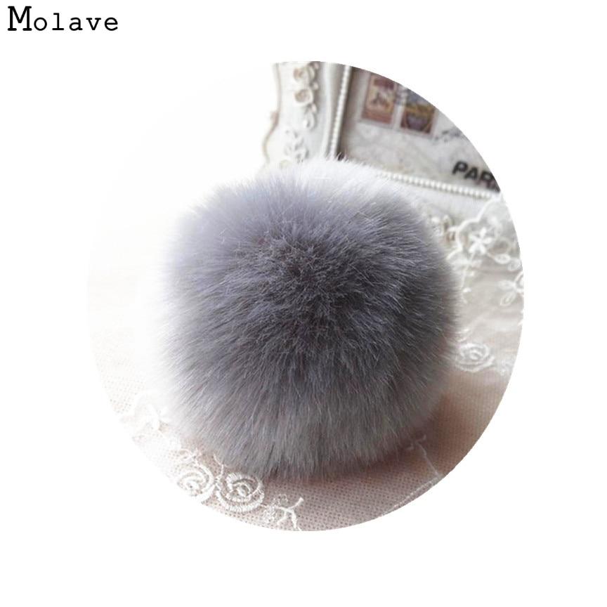 Naivety 1PC Cute Faux Rabbit Fur Ball Chain Pendant Decoration For Bag CS61108 drop shipping