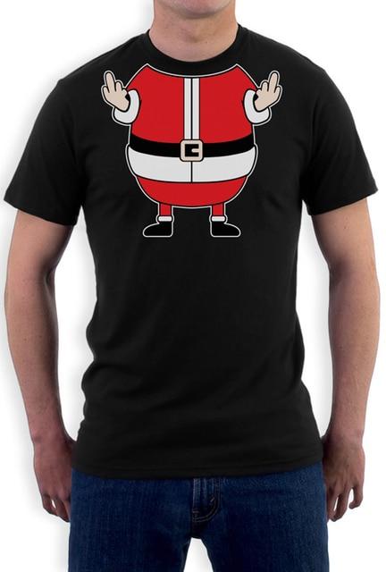 Xmas Rude Fat Santa T Shirt Men Cheeky Funny Elf For Christmas Gift Tee Usa Size