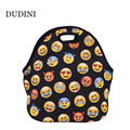 DUDINI Cute Expression Pattern Lunch Bag Fashion Leisure Style Picnic Bag Portable Hand-Held Insulation Lunch Bags For Children