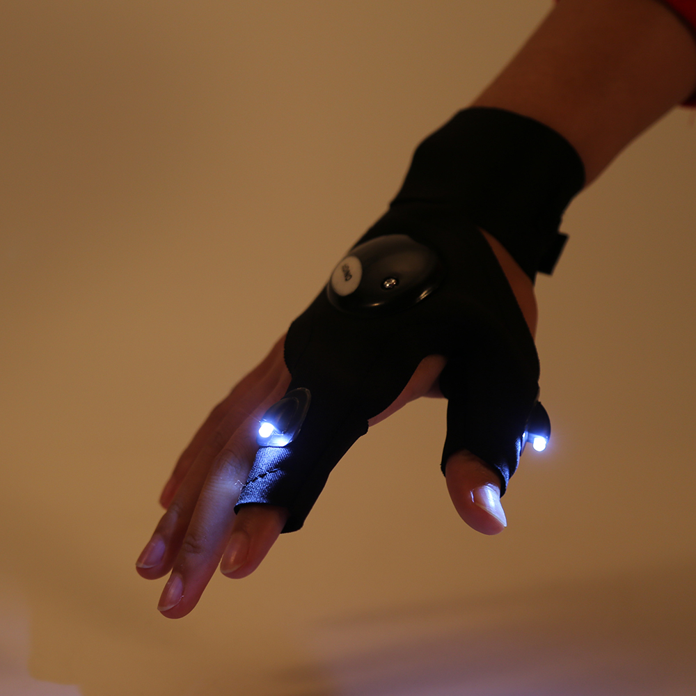 Motorcycle gloves half finger - Led Sport Motorcycle Gloves Men Protect Hands Half Finger Guantes Repair Motocicleta Guantes Ciclismo Accesorios Fox