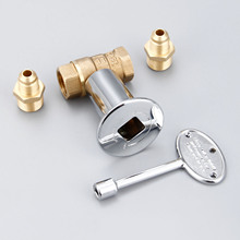1/2Inch Straight Quarter Turn Shut-Off Valve Kit For NG LP Gas Fire Pits with Chrome Flange key valve with 3/8
