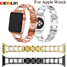 Alloy Crystal Watch Strap for Apple Band with Rhinestone 38mm 42mm Wristband For iWatch Series 3 2 1 Replacement Bracelet