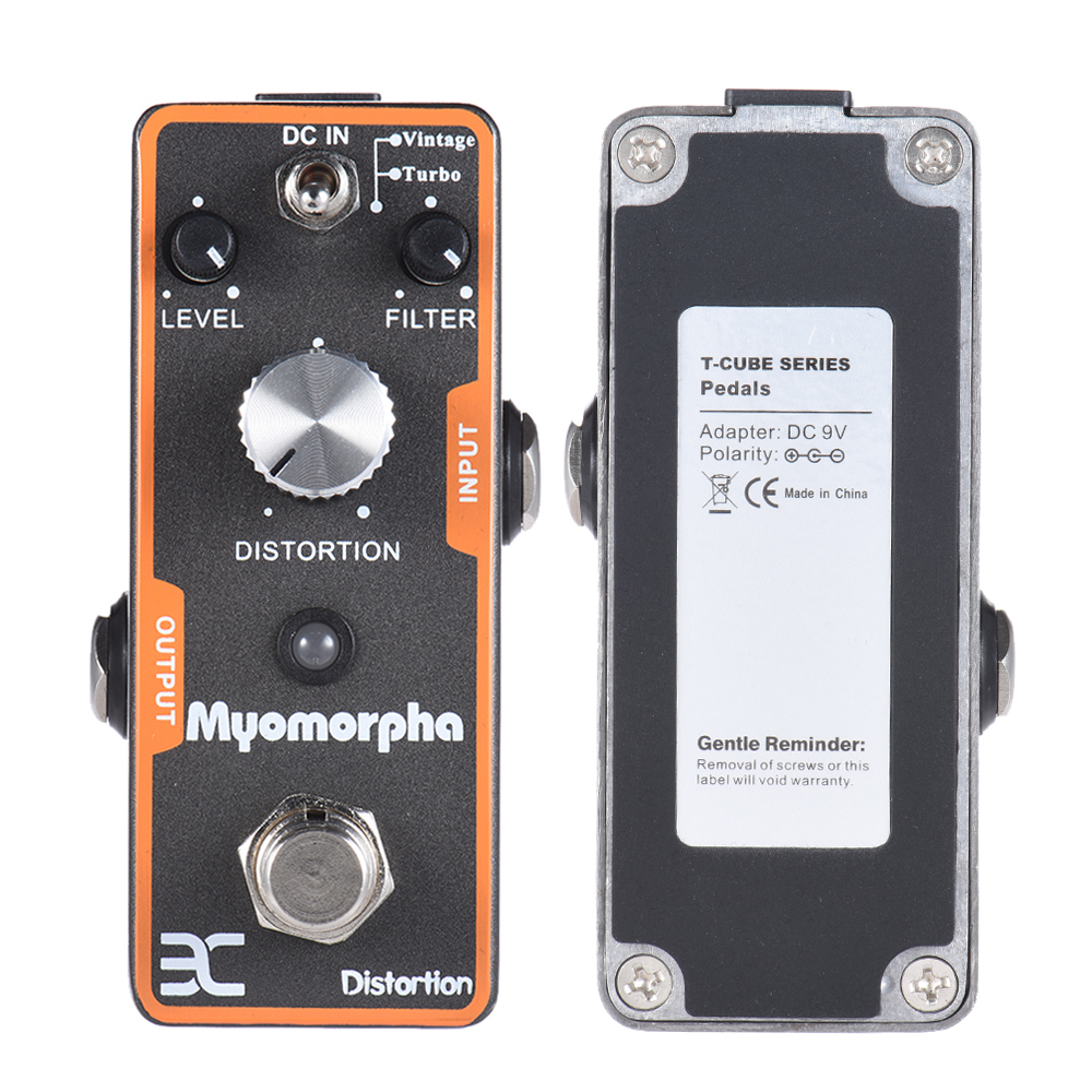 ENO TC-13 Myomorpha Distortion Guitar Effect Pedal True Bypass Design Guitarra Part mooer ensemble queen bass chorus effect pedal mini guitar effects true bypass with free connector and footswitch topper