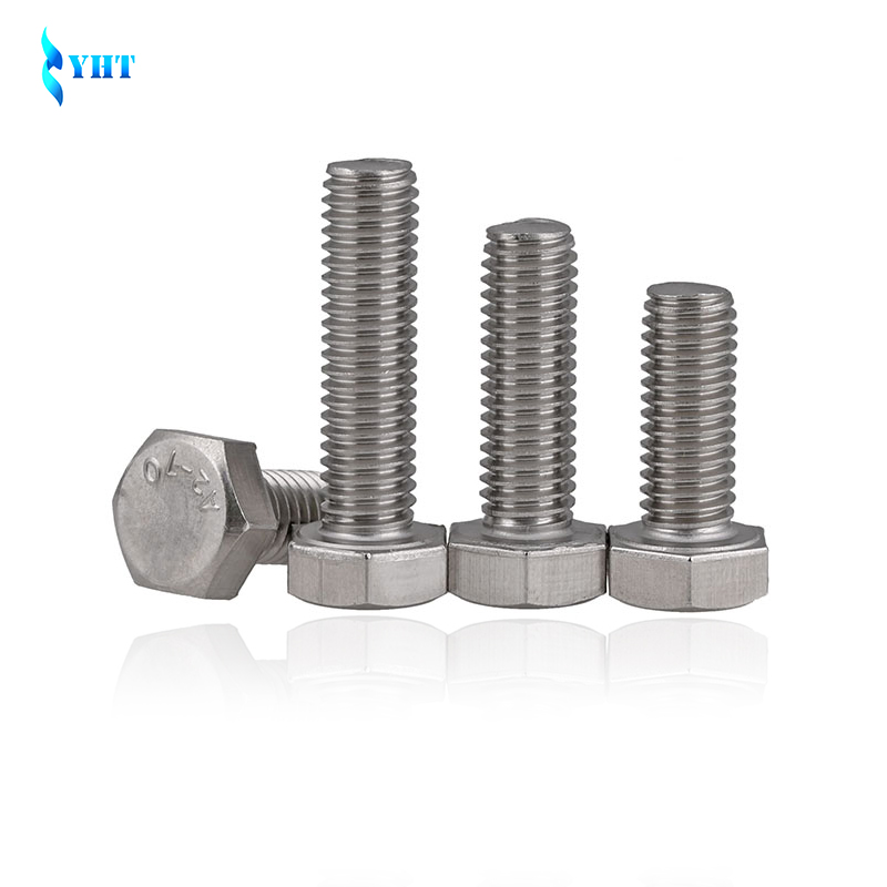 US $2 84 12% OFF M3 M4 M5 M6 M8 DIN933 304 Stainless Steel Hex Bolt Full  Thread six angle bolt screw outer Hexagon hex Head Cap screws SUS304-in  Bolts