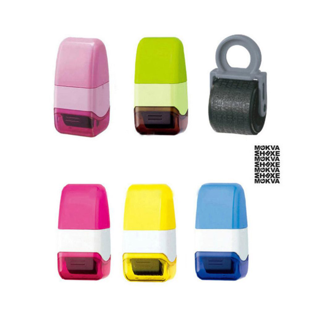 Guard Your ID Roller Stamp SelfInking Stamp Messy Code Security Office Confidentiality Confidential Seal Self Inking japanese korea stationery portable mini roller secrecy stamp garbled seal graffiti seal teacher secrecy stamp