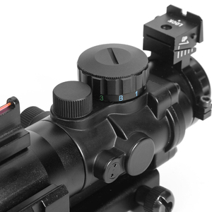 Image 4 - LUGER acog 4x32 Red Dot Riflescope Reflex Tactical Optics Sight Scope With 20mm Rail For Airsoft Guns Hunting Riflescope