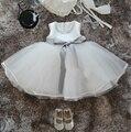 Девушка Новорожденный Крещение Dress Младенческой Невесты Платья Для Маленьких Девочек Дети Церемонии Платье Малыш Девушки Партия Одежды
