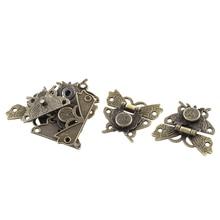 52 мм x 45 мм подарочной коробке бабочка Форма Блокировка защелка бронзового оттенка 5 шт
