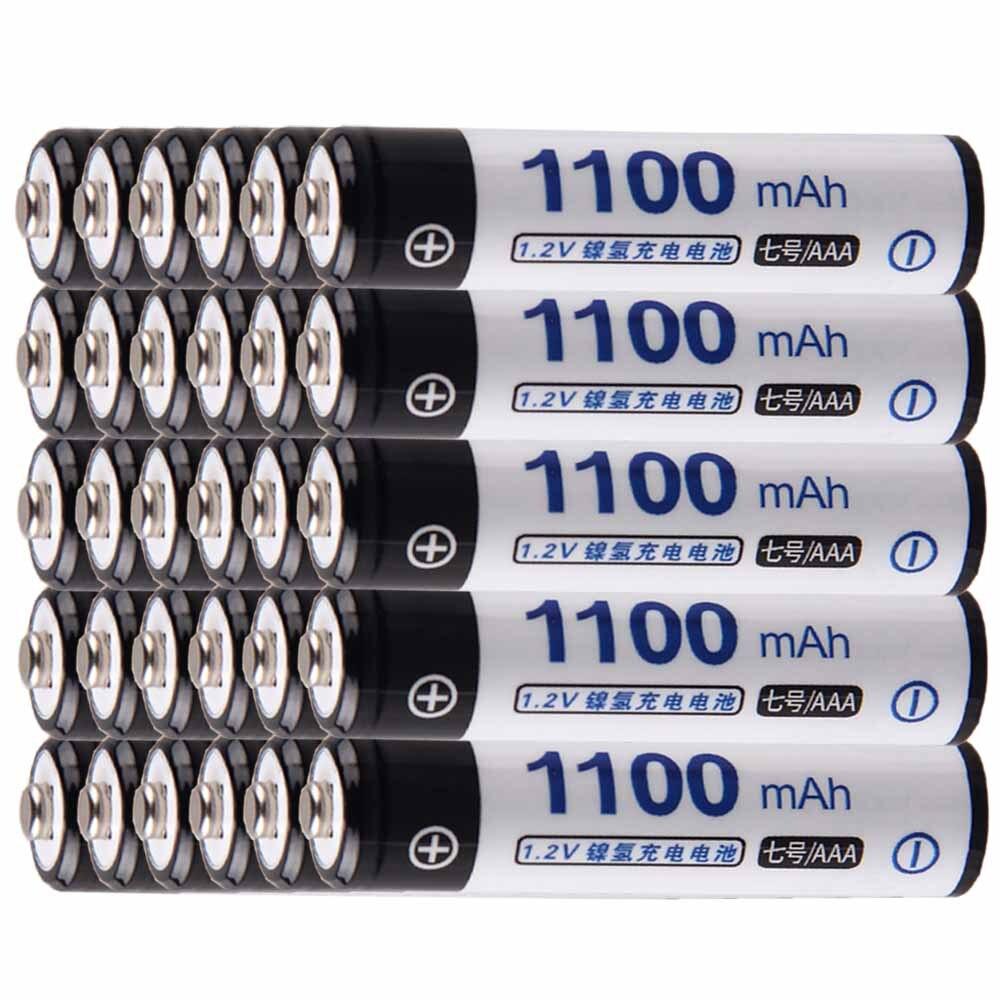 Precio más bajo 30 piezas de batería AAA pilas de 1,2 v recargable 1100 mAh nimh batería para herramientas akkumulator