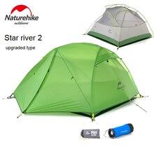 DHL livraison gratuite nouvelle tente de Camping pour 2 personnes étanche 20D tissu en Silicone Double couche tente 4 saisons tente NH17T012-T