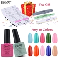 Pick 10 Colors Elite99 UV LED Nail Polish 30 Pieces Gel Remover Wraps Files Shiner UV Nail Gel