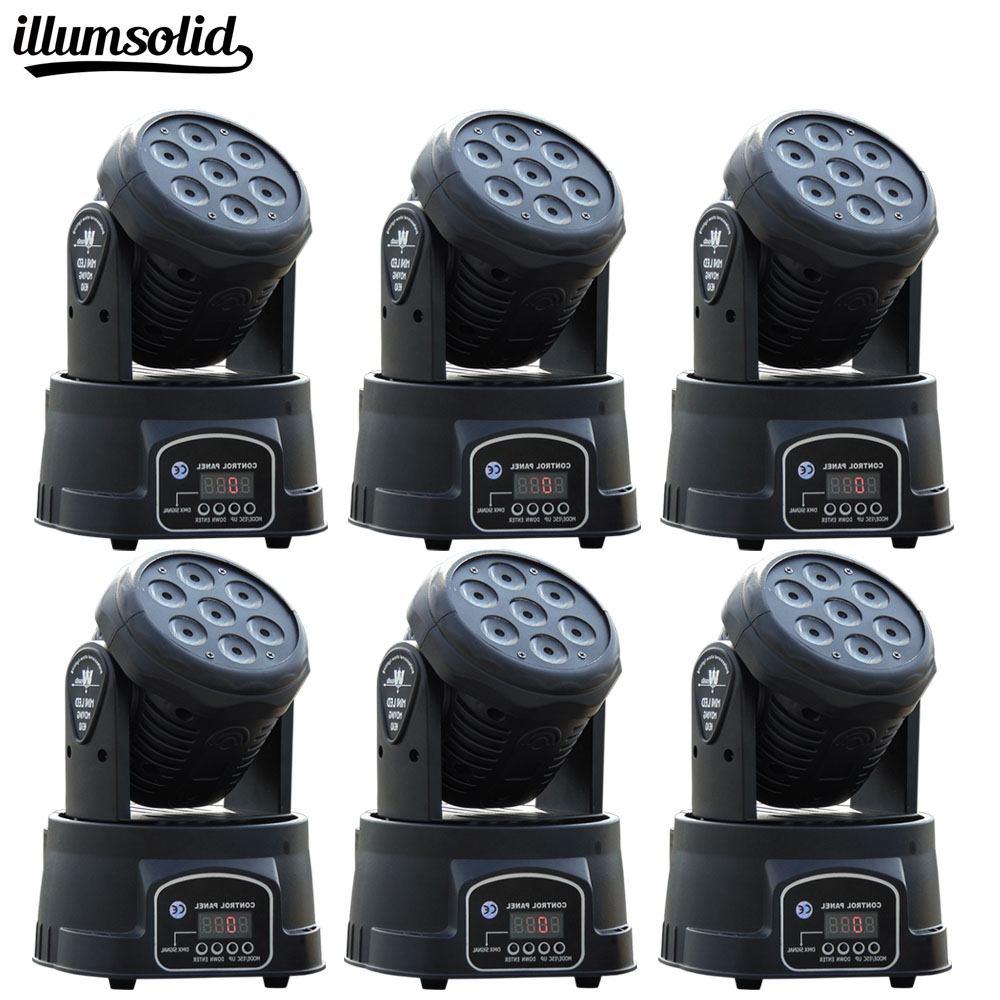 6Pcs High Quality LED Moving Head Wash Light 7X12W RGBW Moving Heads DMX 14Ch DJ Nightclub Party Concert Stage Lighting 6pcs lot white color 132w sharpy osram 2r beam moving head dj lighting dmx 512 stage light for party