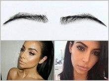 2016 hot sale real sobrancelha 003 estilo rihanna cor falso sobrancelha sobrancelhas de henna 1 par para as mulheres/cabelo humano sobrancelha/adulto