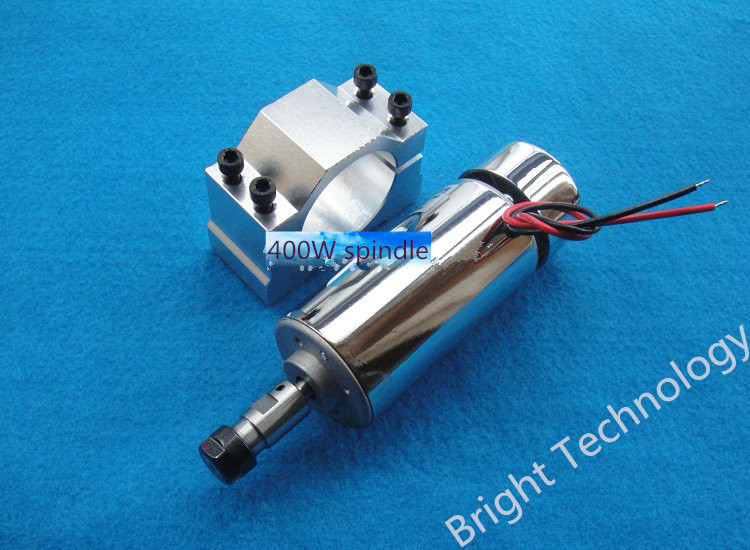 ER11 48V 400W Brush piece suit high-speed air-cooled spindle motor spindle engraving machine spindle PCB dc110v 500w er11 high speed brush with air cooling spindle motor with power fixed diy engraving machine spindle