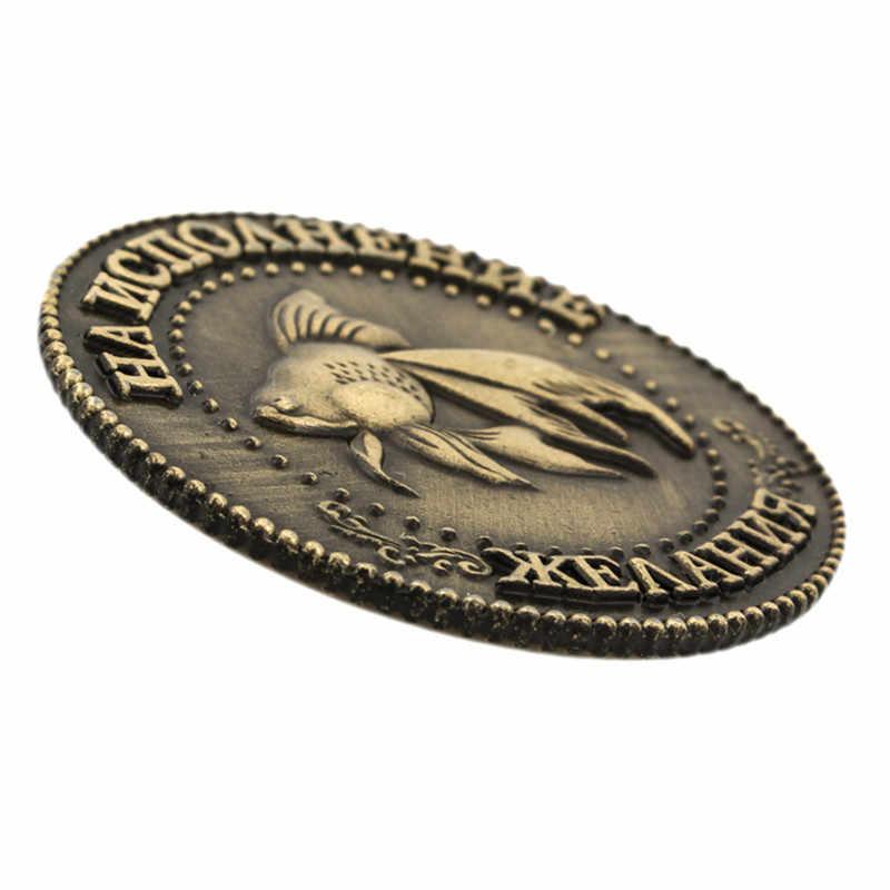 Памятная монета Lucky Coin, подарок на Новый год, аксессуары для домашнего декора