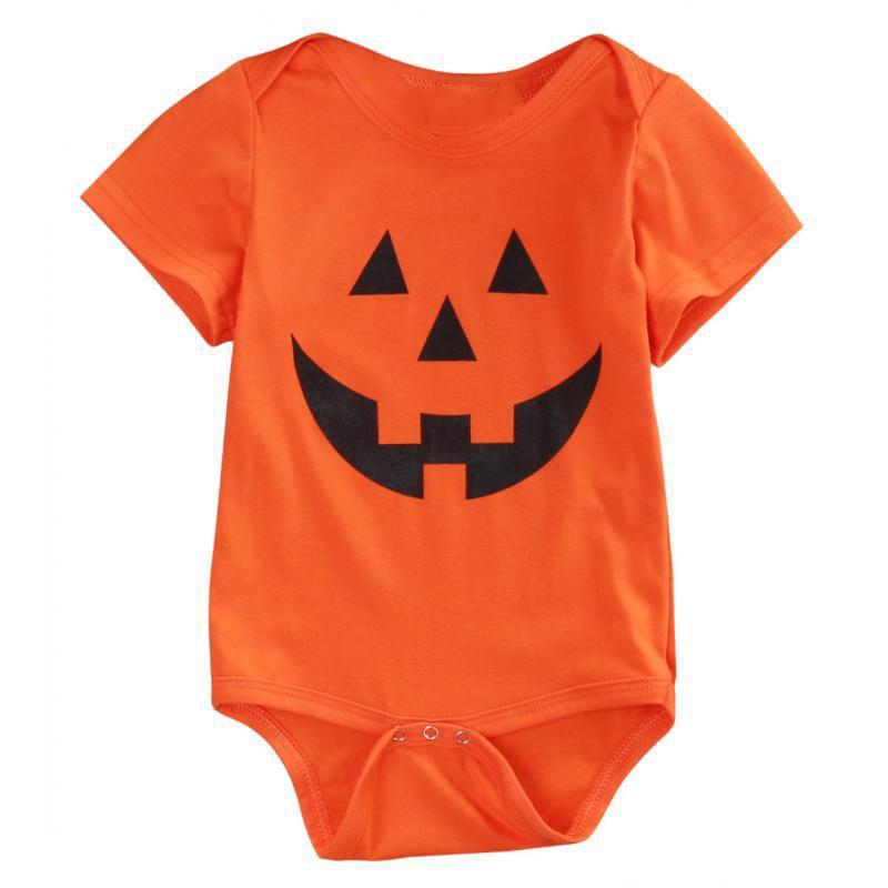 2017 Baby Rompers Summer Autumn pumpkin/skull pattern Newborn Baby Boys Girls Halloween Romper Jumpsuit Toddlers Coveralls