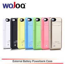 WOJOQ New 2200mAh Portable Backup External Battery Charger Case Power Bank Pack Charging Cases Cover For iPhone 5 5S SE Battery