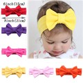 6 Inch Big Bow Solid Cotton Turban Headband For Infant Toddler Baby Girl Kids Knotted Head Wrap Hair Accessories