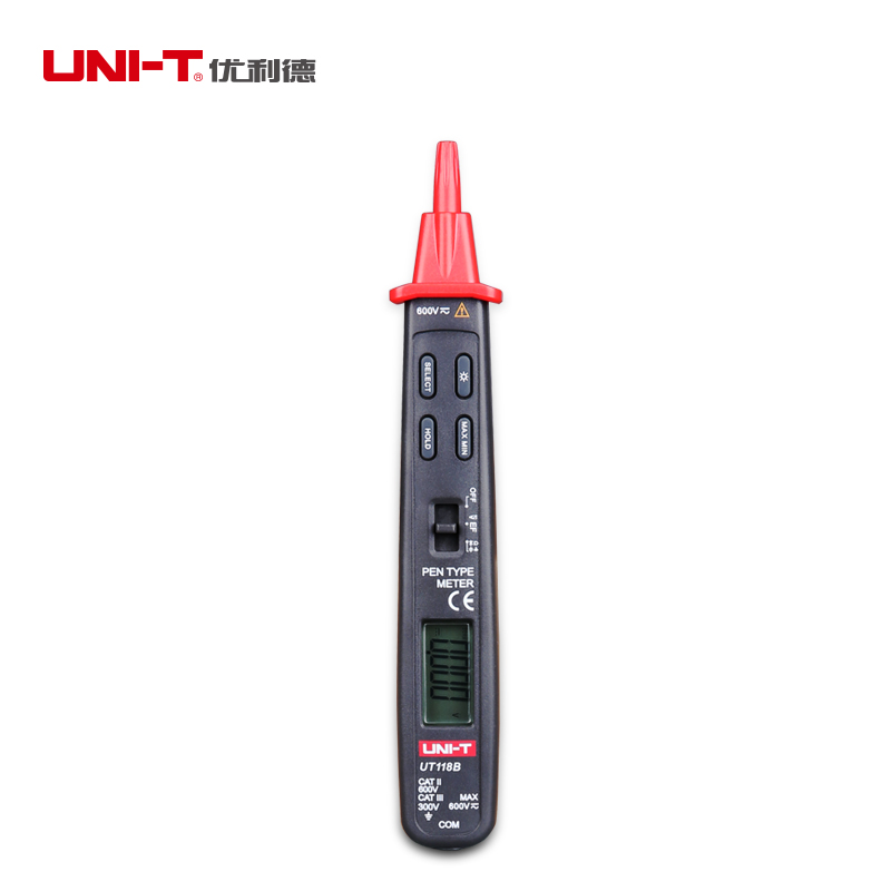 UNI-T UT118B Pen Type Digital Multimeter with 3000 Display Count Auto Range EF Function mastech ms8211d pen type digital multimeter manual auto range
