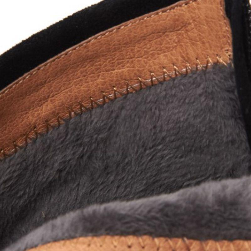 Vintage High Schuhe gray Black Ferse Heel Größe caramel Weibliche gray black Kurze 42 Zipper 33 Fur Cloth Color Cloth Fur Misakinsa Stiefeletten Stiefel Starke Fur Frauen RwIxqPp66