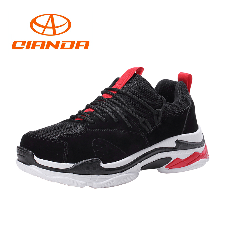 QIANDA Brand 2018 Summer Running Shoes for Men Sneakers Light Cushioing Outdoor Sport Breathable Mesh Man Walking Jogging Shoe