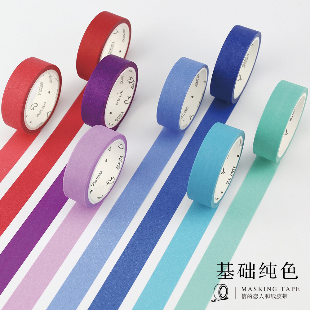 1 Roll 24 Colors Cute Japanese Washi Tap Basic Color DIY Decorative Adhesive Tape Scrapbooking Masking Tape Sticker Photo DIY japanese washi tape diy craft decor scrapbooking sticker roll masking adhesive paper decorative photo album tape stationery new