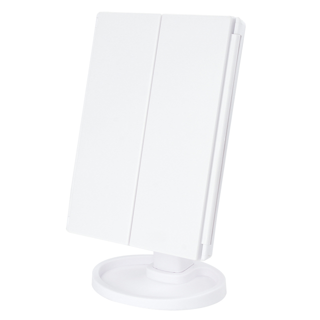 Makeup 22 LED Vanity Mirror with Lights 1X2X3X10X Magnification Glass Portable Touch Screen Make Up Mirror Flexible Compact Mirr 5