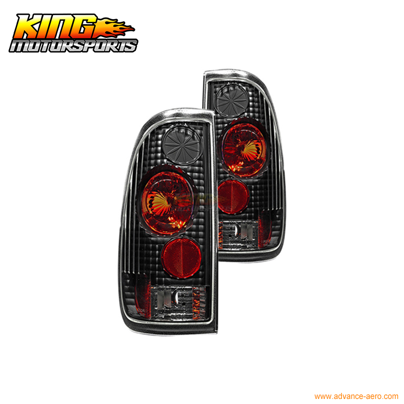 For 97-03 Ford F-150 F250 Styleside F-250 HD F-350 HD Altezza Tail Light Black Clear USA Domestic Free Shipping