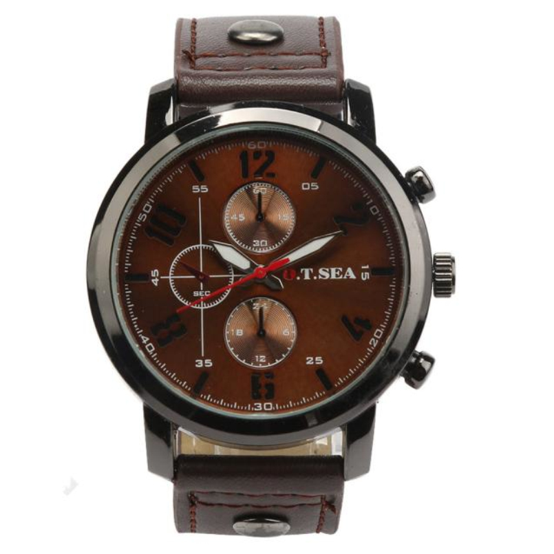 New Arrive Business Quartz Watch Men Sport Military Watches Men Leather Army Wristwatch Clock Hours Relojes Hombre Dropship