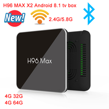 H96 Max X2 Android 8.1 TV BOX Quad Core S905X2 4GB RAM 64GB Rom 2.4G/5.0GHz Wifi Set Top Box USB 3.0 H96MAX 2G16G Media Player smart tv box android 8 1 h96 max x2 amlogic s905x2 4k media player 4gb 64gb h96max ddr4 tv box quad core 2 4g