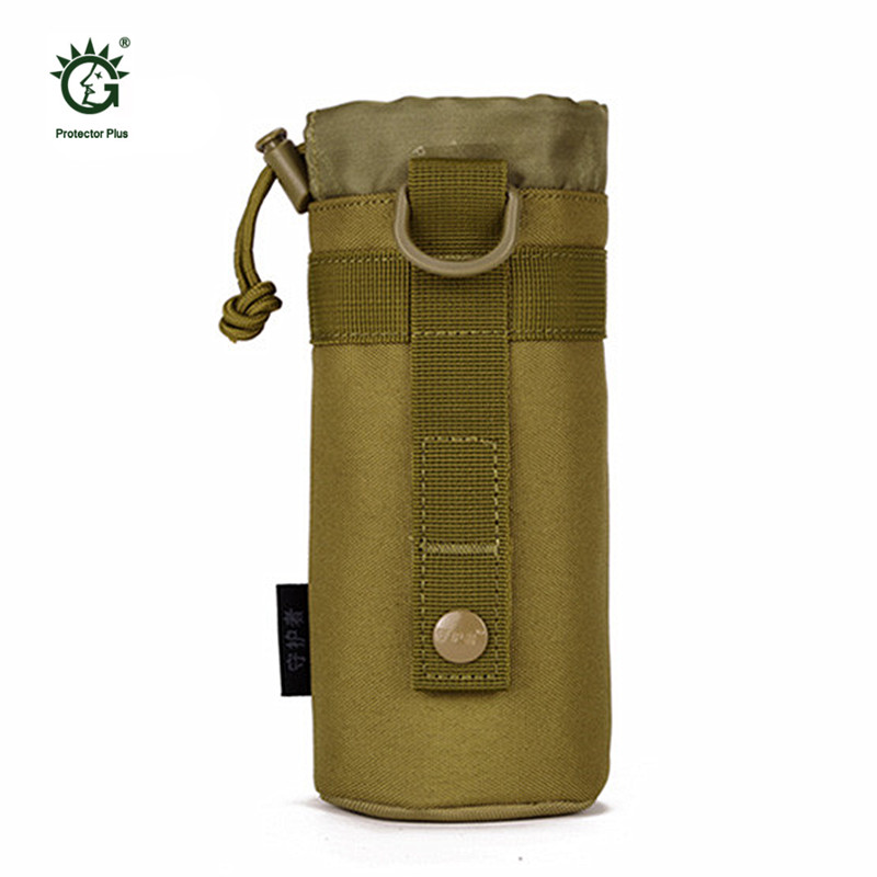Utdoors Army Fans Unisex Tactics Small Kettle Bag Hanging Sleeve Waist Bottle Bags Attached Pack Plug A24