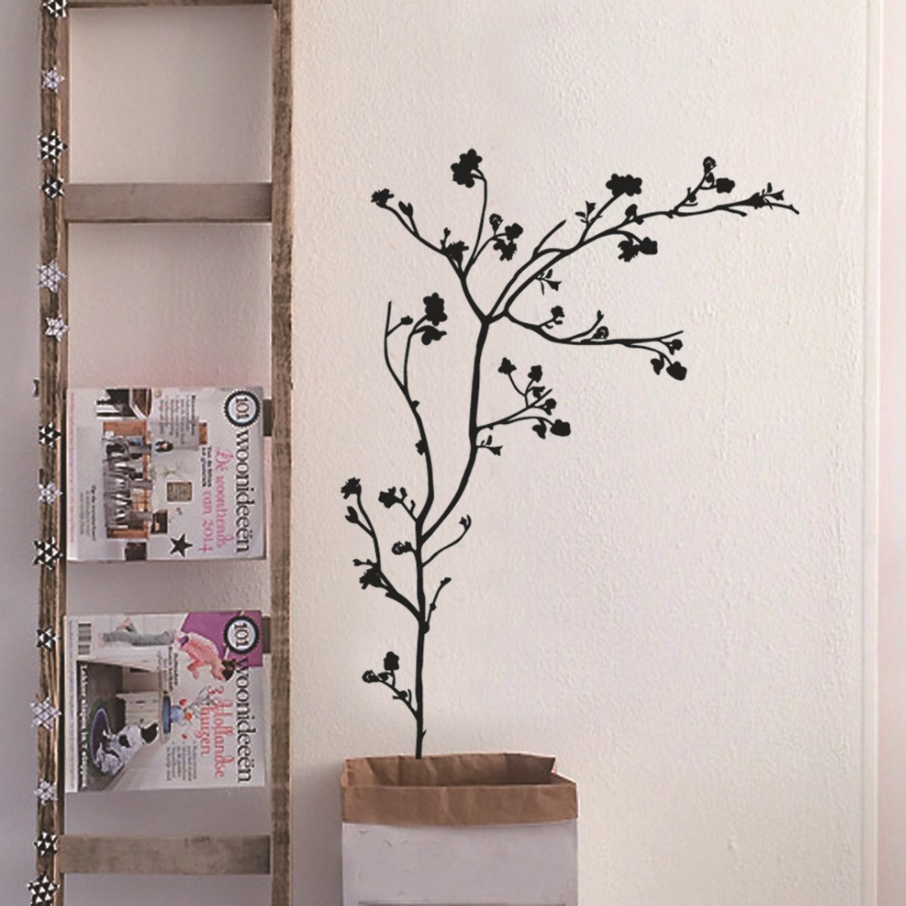 Aliexpress.com : Buy Black Tree Wall Stickers Vinilos Decals Fashionable  Wallpaper Self Adhesive Vinyls Sofa Background Decor Window Decor From  Reliable ... Part 93