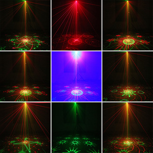 Image 5 - NGOÀI HÀNH TINH Từ Xa Dual Xanh Đỏ 128 Hoa Văn Nghệ Máy Chiếu Laser Chiếu Sáng Tác Dụng DJ Disco Đảng Câu Lạc Bộ Thanh Xmas Ánh Sáng Với ĐÈN LED màu xanh dương
