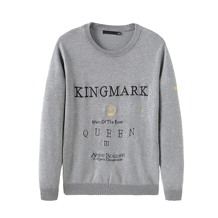 New 2019 Man Luxury Embroidered Crown KingMark Queen Knit Casual Sweaters Pullovers Asian Plug Size High Quality Drake #ST39