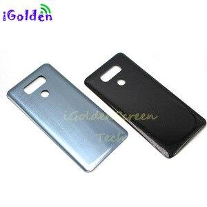 Image 5 - Tylna pokrywa dla Lg g6 pokrywa baterii obudowa drzwi obudowa z kamerą szklana soczewka identyfikator dotykowy zamiennik dla G6 LS993 US997 VS998 H870