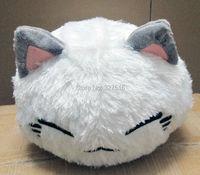 Atacado e varejo dos desenhos animados nemuneko dormindo gato de pelúcia macia boneca brinquedos estilos bonito neko gato travesseiro 38 CM frete grátis