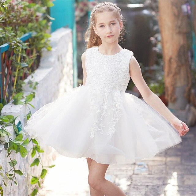 Schönheit Spitze Blumenmädchen Hochzeit Kleid Kleine Prinzessin 4 5 ...