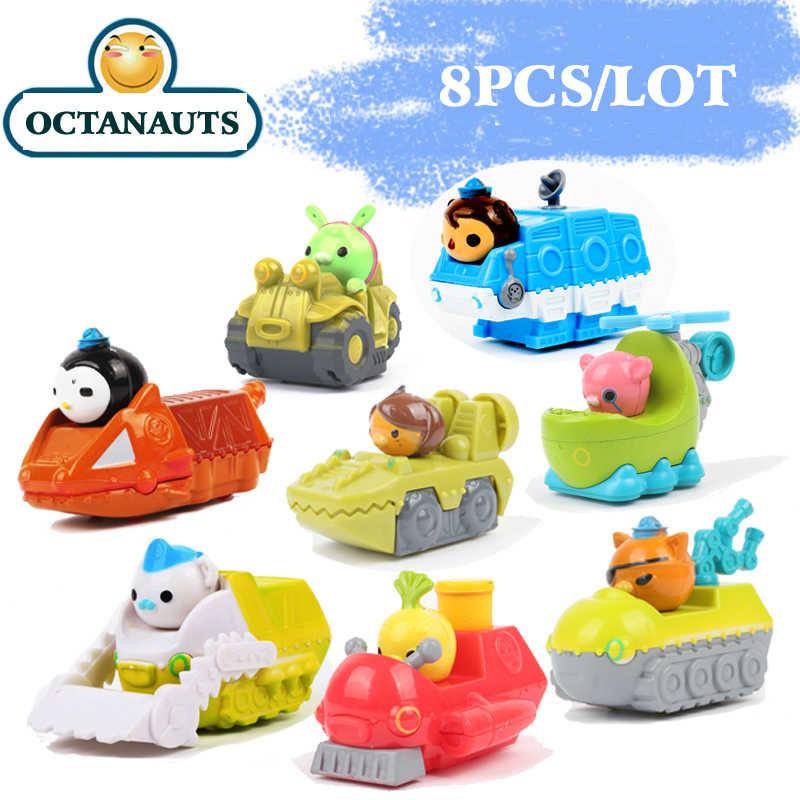8 шт./лот Octonauts игрушечные лошадки мини морской Лодка Корабль подводная лодка с Octonauts цифры Детские Рождественский подарок