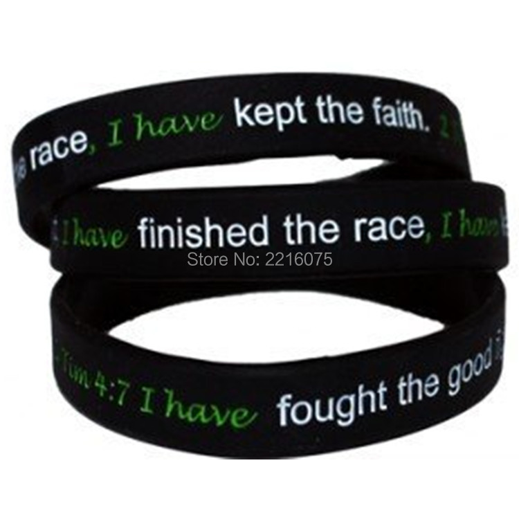 Strength Debossed Wristband Bracelets 2 Timothy 47