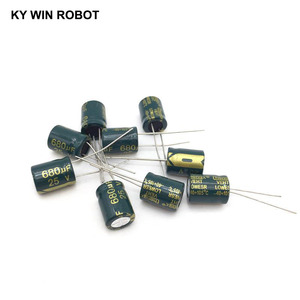 Image 5 - 10 pcs Aluminum electrolytic capacitor 680 uF 25 V 10 * 13 mm frekuensi tinggi Radial Electrolytic kapasitor