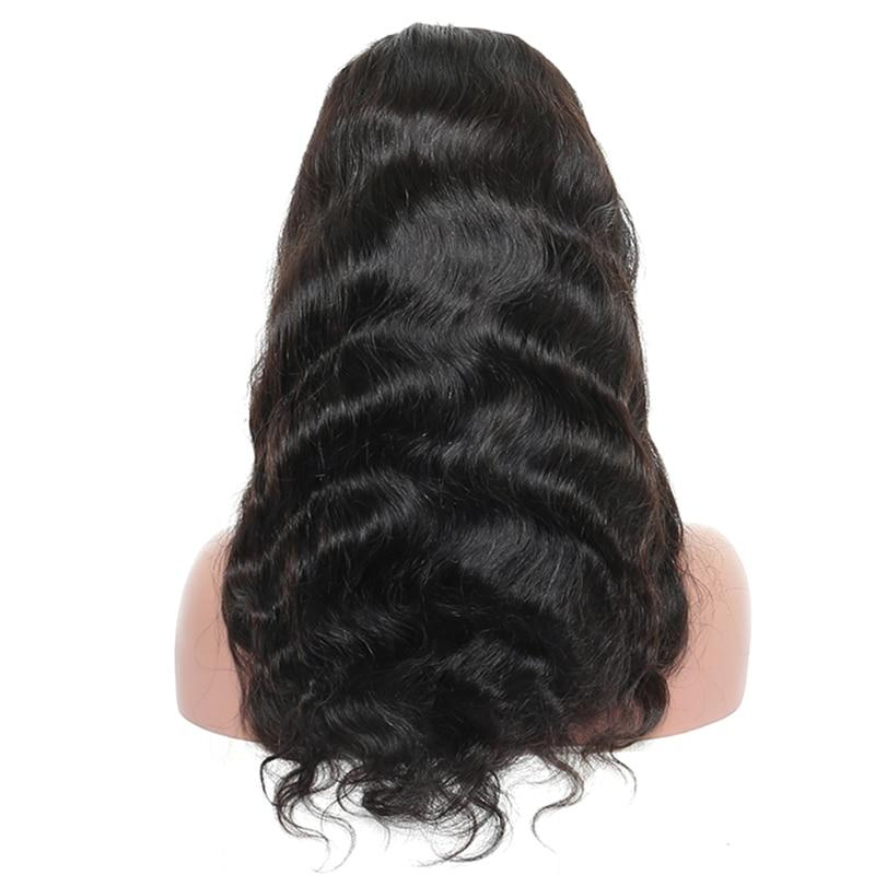 Wig Trupi prej 360 Lace me Parafjalë Trupi Wave Dantel Paruke me - Flokët e njeriut (të zeza) - Foto 4