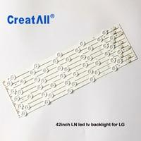 10pcs /set 42inch L1/R1/L2/R2 led backlight Replacement Strips for LG 42ROW 2.1 6916L 1214A 6916L 1215A 6916L 1216A 6916L 1217A