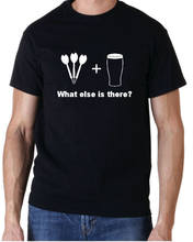 DARTS & BEER WHAT ELSE THERE? FUNNY T SHIRT MENS GIFT(China)