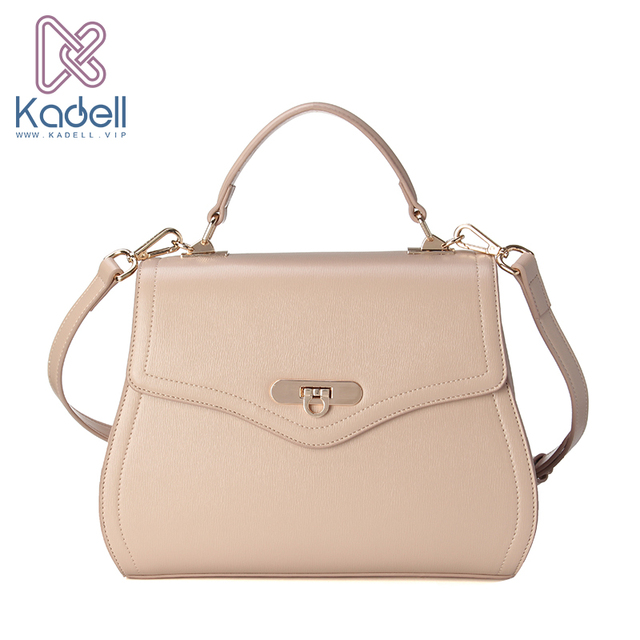 Kadell NEW Saddle Bag Woman PU Leather Handbag Fashion Brands Ladies Crossbody Bag Flap Shoulder Bags High Quality Beige