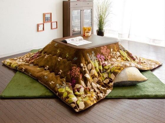 Fu10 Kotatsu Futon Comforter Blanket Square 190x190cm 2 Colors Patchwork Style Cotton Soft Quilt Japanese