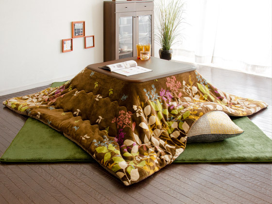 Fu10 Kotatsu Futon Comforter Blanket Square 190x190cm 2 Colors Patchwork Style Cotton Soft Quilt Japanese