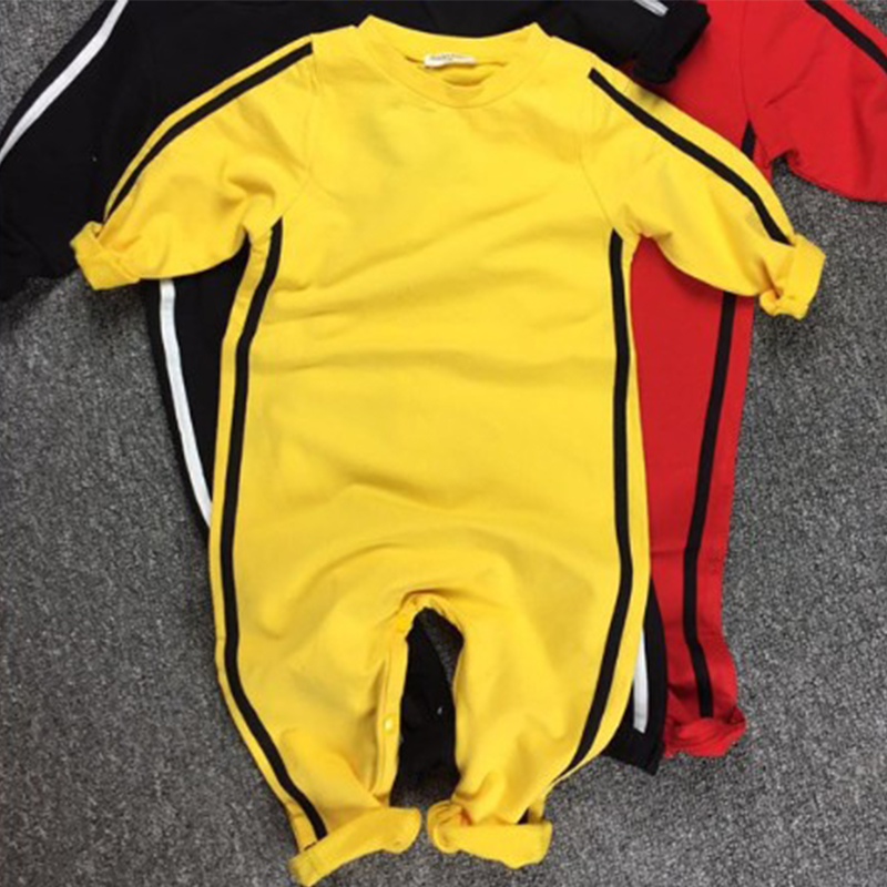 Boys' Baby Clothing 2017 New Baby Boys Girls Clothes Romper Chinese Kong Fu Infant Jumpsuit Hero Bruce Lee Newborn Baby Costume Climbing Clothes